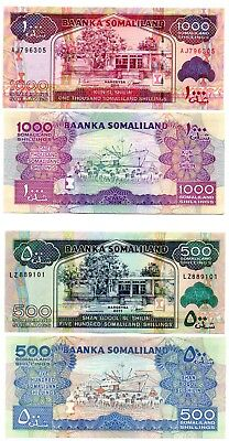 SOMALILAND - 2   great different   UNC   500  &  1,000  shillings