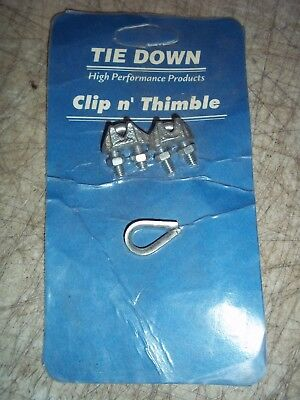 "Bnip Tie Down 1/8"" 4Kh30 Clip And Thimble"
