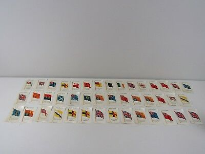 Lot Group of (43) Kensitas Cigarettes Silk Flags ~ Beautiful Clean Condition!