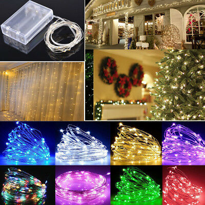 20/30/100 LED String Fairy Lights Battery Operated Copper String Wire Xmas Light