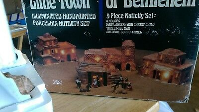 Little Town of Bethlehem Nativity Set Hand Painted Porcelain Vintage, N.Y., N.Y.