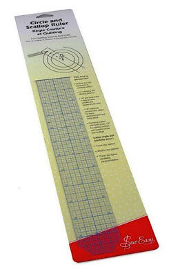 Sew Easy Circle And Scallop Ruler Drafting Enlarging Altering Designs Quilting