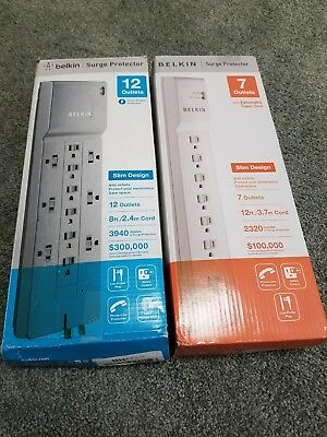 Belkin 12 outlet surge protector and Belkin 7 outlet power strip surge protector