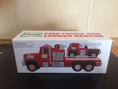 2015 Hess Toy Fire Truck & Ladder Rescue Not Removed