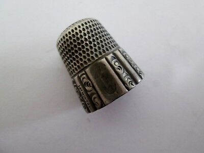Antique Simmons Bros. Sterling Silver Thimble #12  (589-J)