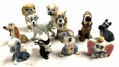 Collection of 11 DISNEY WADE WHIMSIES Inc. Hatbox Dumbo, Thumper & Pegasus - C28