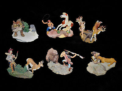 RARE Lot of 6  Franklin Mint Figurines  American Indian Heritage Foundation