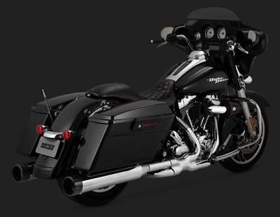 Vance and Hines Power Duals Exhaust For HD Touring Models 2009 - 2016 - Chrome