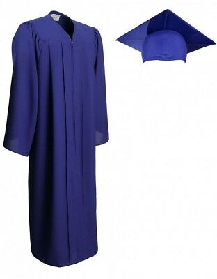 NEW Jostens Royal Blue Graduation Cap and Gown