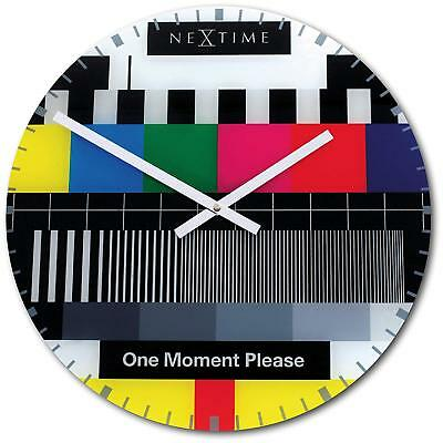 NeXtime Testpage / Testcard Retro Glass Table / Wall Clock