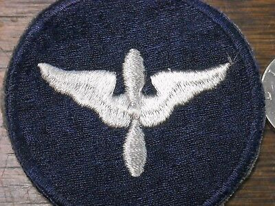 RARE TRANSITIONAL ARMY AIR FORCE BLUE & SILVER TRAINING CADET SSI aaf usaf