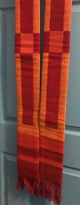 Beautiful Rare Vintage Catholic Priests Woven Red Stole By The Holy Rood Guild