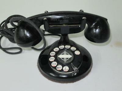 Working 1920's Automatic Electric Monophone Art Deco Phone Rings & Dials