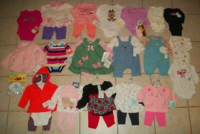Brand New Baby Girls Outfits Lot of 32 Size Newborn/0-3/3-6 Months Winter