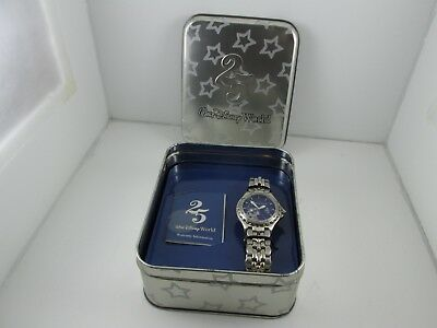 LE MENS Walt Disney World 25 Anniversary Sorcerer Mickey Watch in Tin by Fossil