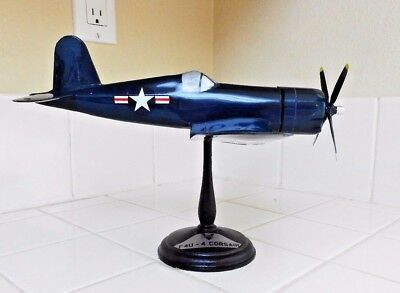 WWII F4U Corsair US Navy Marines Airplane Desk Model PRECISE/TOPPING