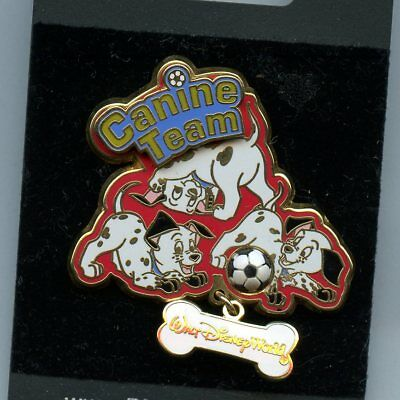 Disney Big Pin Game Event - Canine Soccer Team 101 Dalmatians Puppies w/ Ball LE