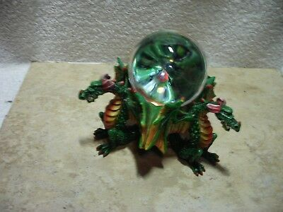 Summit Collection Resin Three Dragon Incense Burner With Clear Orb