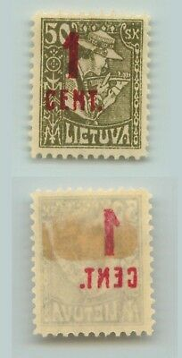 Lithuania 1922 SC 140 mint offset . d5008