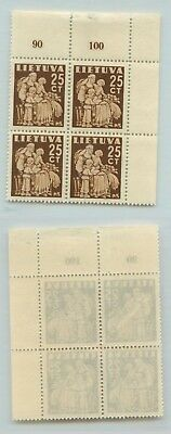 Lithuania 1940 SC 320 MNH block of 4 . d5733