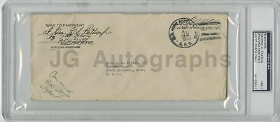 General George Patton Jr. - Scarce Autographed Envelope from 1943 - PSA Slabbed