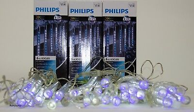 Philips 5 Strings of 6 Cool White LED Cascading Icicle Lights White Wire