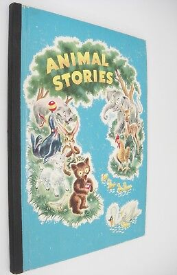 Vintage Book of Animal Stories 1947 by Whitman Publishing Blue Board Cover Rare
