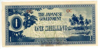 Japanese Gov. One Shilling Note For Issue During World War 2