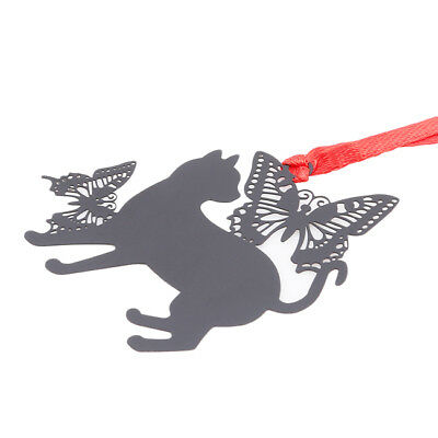 Metal Bookmark Butterfly Cat Creative Gift Stationery School Office Supply B