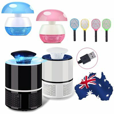 Electric Racket Mosquito Killer Fly Pest Bug Insect Trap Zapper LED Lamp Bulb AU