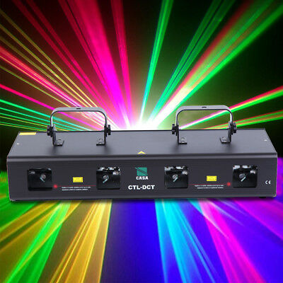760mW GRYB 4 Lens Stage Disco DJ Club Bar Party Wedding Laser beam Light Xmas