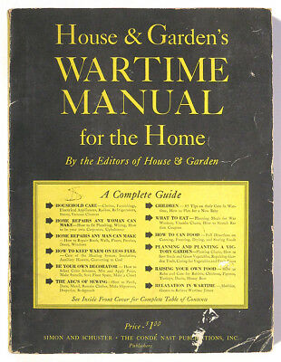 1943 HOUSE & GARDEN WARTIME MANUAL FOR THE HOME Front Victory Garden World War 2