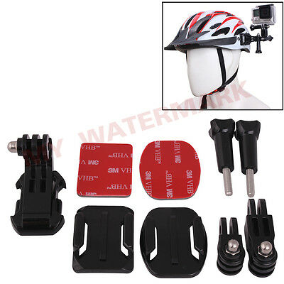 Helmet Flat+Curved Adhesive Side Mount J-hook Buckle for GoPro Hero 1/2/3/3+/4