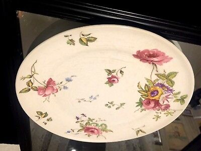Antique American Limoges Vitreous China C1935  10 Inches Floral -  Roses