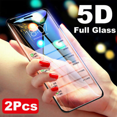 2PCS 5D 9H Premium Real Tempered Glass Screen Protector For Iphone XS/MAX XR