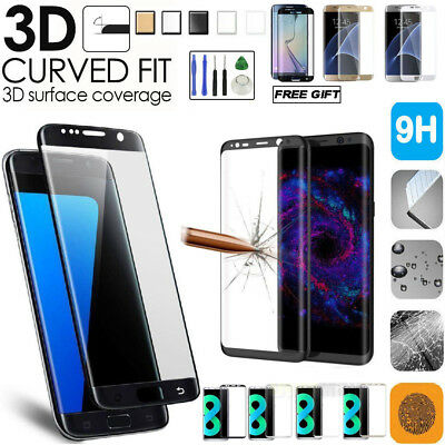Full Cover Tempered Glass Screen Protector For Samsung Galaxy S7 Edge S8 iPhone