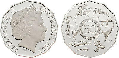Australian Fifty Cent 50c Coin 2005 XVIII Commonwealth Games Student Design