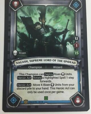 Warhammer Age Of Sigmar Champions Onslaught TCG UNCLAIMED Reckless Abandon
