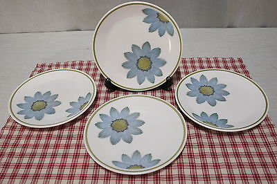 LOT of 4 Noritake Progression 9001 UP-SA-DAISY Bread + Butter Plates Mid-Century
