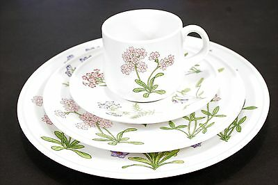 Noritake PETALS PLUS (9071) Place Setting: Dinner, Salad, Tea Cup Saucer MINT!