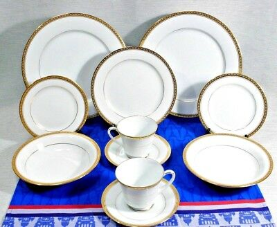 LOT of 11 pcs Noritake Richmond 2 Ea. Dinner, Bread. Soup, Cup + Saucer, 1 Salad