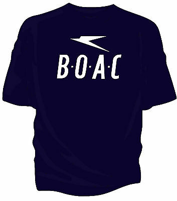 BOAC retro 70's style airline t-shirt