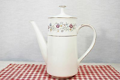 "Noritake  LONGWOOD 2485 Coffee Pot 8"" 5 Cup  MINT!"
