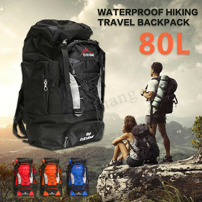 60L/80L Outdoor Military Tactical Bag Rucksacks Camping Hiking Trekking