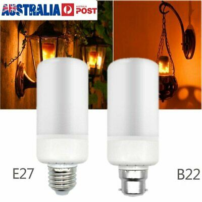 LED Flame Effect Fire Light Bulb Flickering Flame Lamp Simulated Decor E27 B22