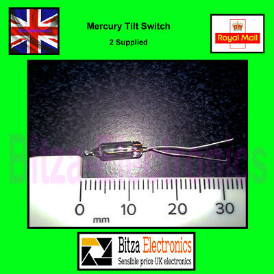 2 x Mercury Tilt Switch Position Angle sensor UK Seller