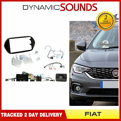 CTKFT17 Double Din Car Stereo Fascia Fitting Kit Black for Fiat Tipo 2015 On