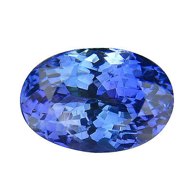 3.02Ct MIND BOGGLING ! TOP RICH FIRE AAA BLUISH VIOLET NATURAL TANZANITE
