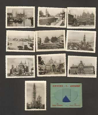 Undated Travel Souvenir Miniature 10 Photographs Anvers Antwerp No 2