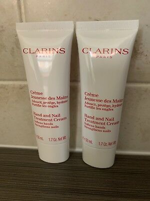 Clarins Hand and Nail Treatment Cream 100ml  (2 x  50ml )  Sealed